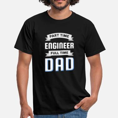 Engine Parts Engineer father - Men's T-Shirt