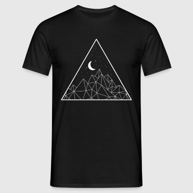 Minimal Moon Mountain - Men's T-Shirt