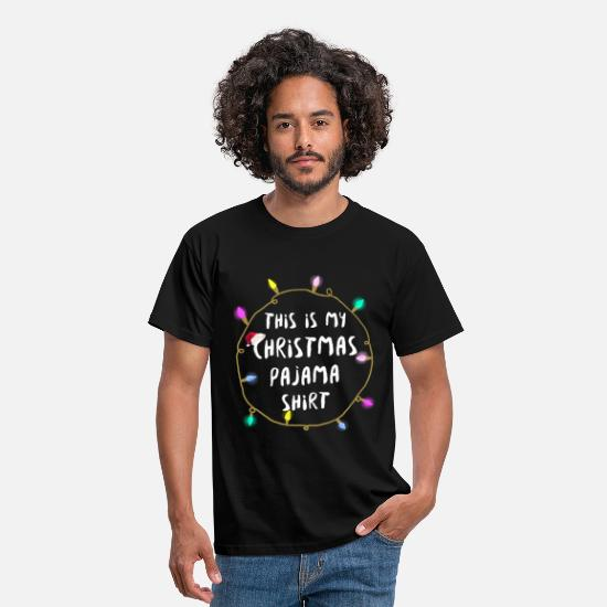 Mulled Wine T-Shirts - This Is My Christmas Pajama Shirt Funny Family Shi - Men's T-Shirt black