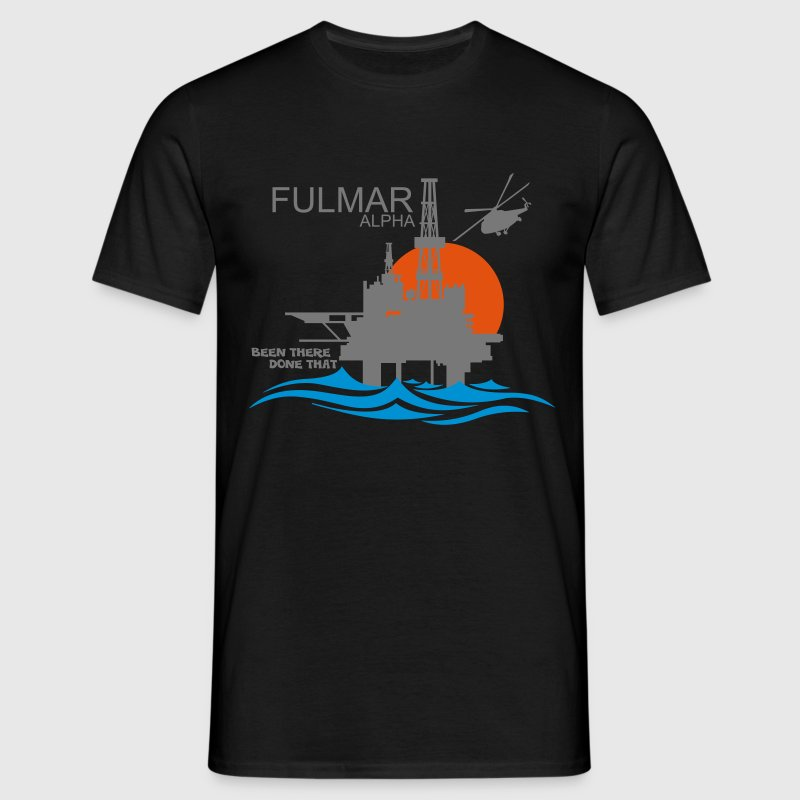Fulmar Alpha Oil Rig Platform North Sea Aberdeen - Men's T-Shirt