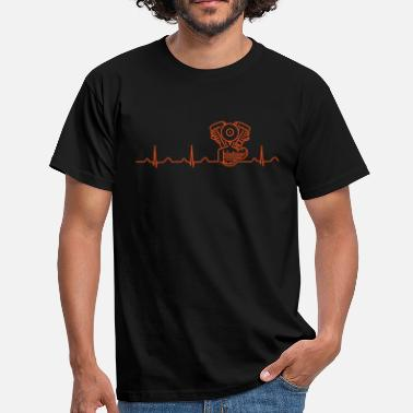 Crocker Panhead Heartbeat orange  - Men's T-Shirt