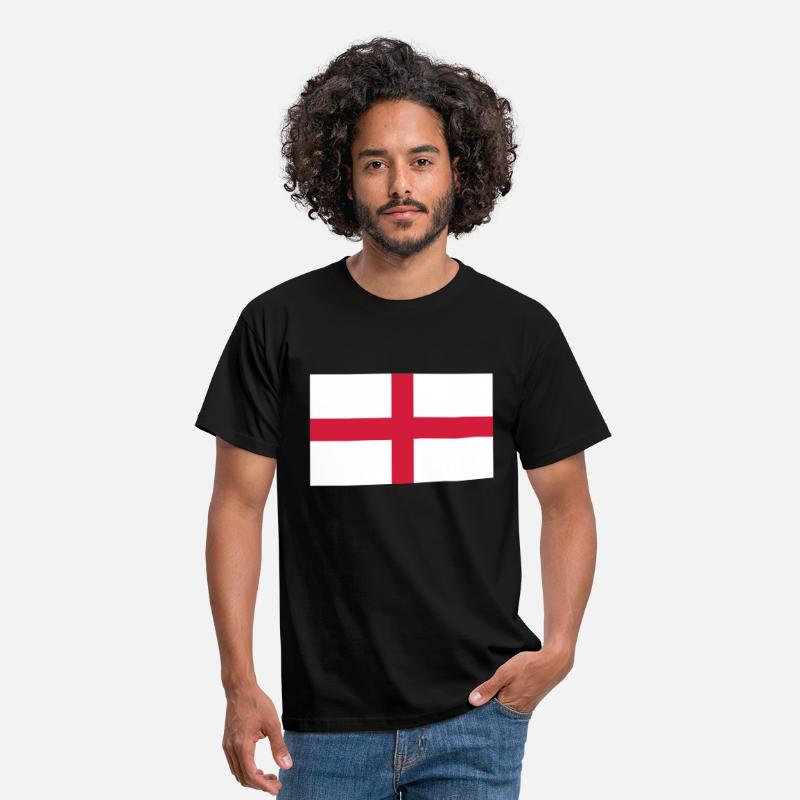 Flag T-Shirts - St George's Cross - English Flag - Men's T-Shirt black