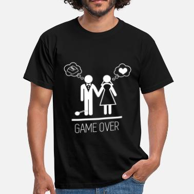 Stag Party Game Over Game over - Stag do - Hen party - Wedding - Men's T-Shirt