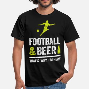 Beer And Football FOOTBALL & BEER Football Beer Funny Fan Shirt - Men's T-Shirt