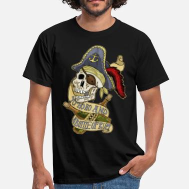 Pirate bottle of rum - Men's T-Shirt