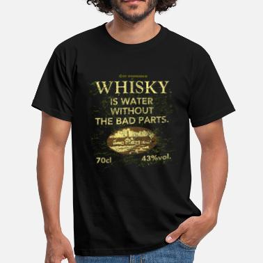 Whisky Quotes Whisky is Water - Men's T-Shirt