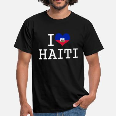 Haiti i love haiti - Men's T-Shirt