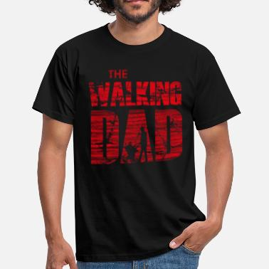 Red Walk The Walking Dad with stroller (red) - Men's T-Shirt