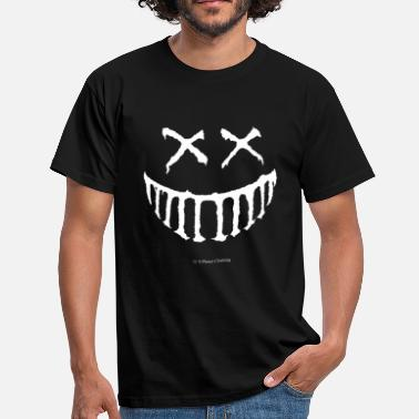 Creepy Smile Vit - T-shirt herr