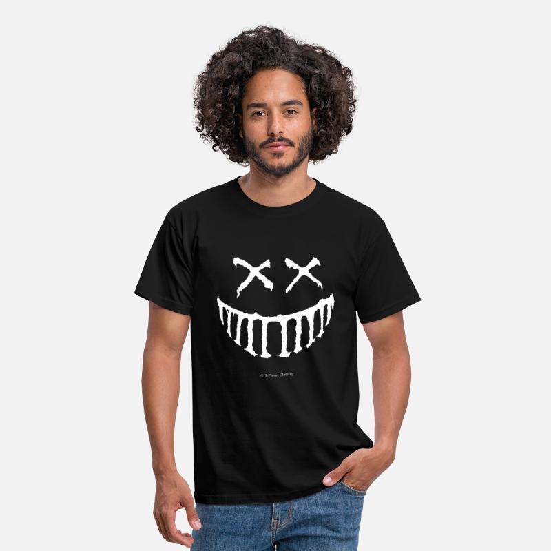 Creepy T-Shirts - Creepy Smile White - Men's T-Shirt black