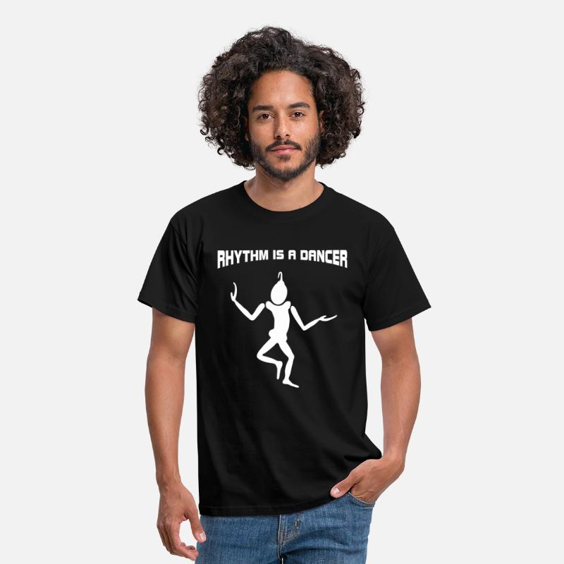 90s T-Shirts - Dancing - Rhythm is a dancer - Men's T-Shirt black