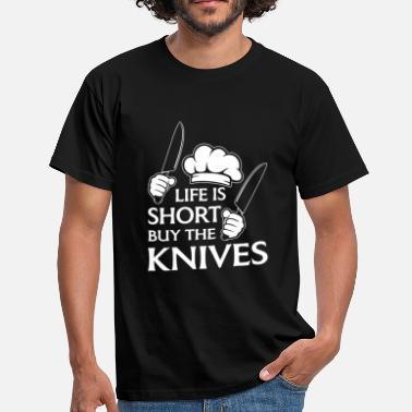 Kitchen Knives Life is short buy the knives - Men's T-Shirt