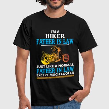 Father In Law Biker Father In Law... - Men's T-Shirt