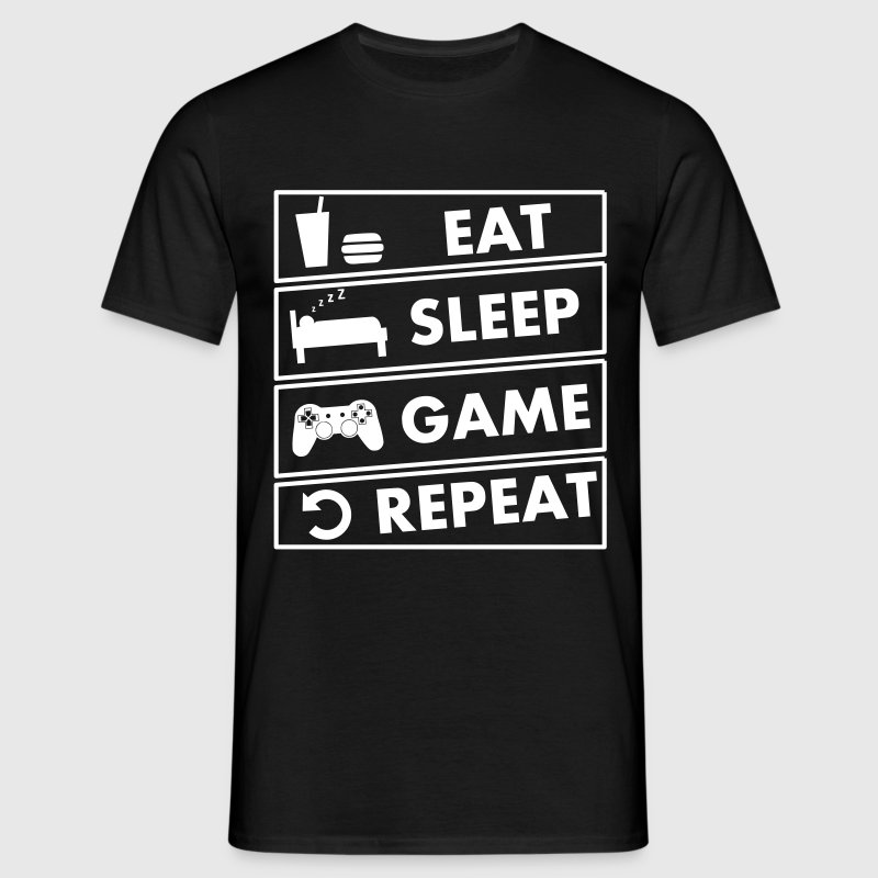 eat sleep game repeat - T-shirt Homme