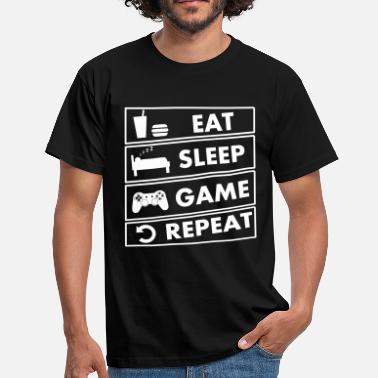 Eat Sleep Game eat sleep game repeat - T-shirt Homme