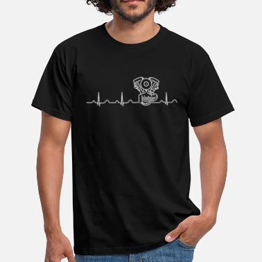 Crocker Panhead Heartbeat white - Men's T-Shirt