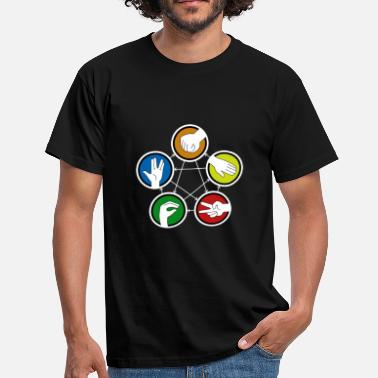 Pierre Feuille Ciseaux Lezard Big Bang Theory Rock Paper Scissors Lizard Spock - T-shirt Homme