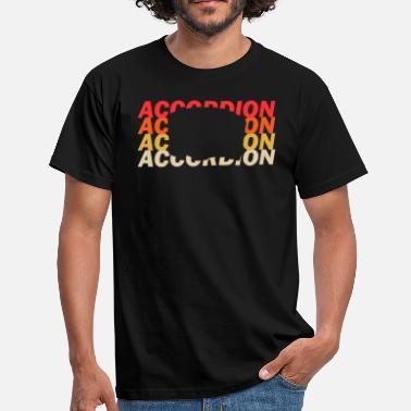 Folke Acordeon tocar musica folk - Camiseta hombre 5fa15915057