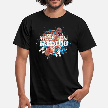 Looser Keep On Riding Snowboard - Männer T-Shirt