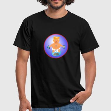 BABY TRUMP BALLOON BLIMP LONDON PROTEST DESIGN - Men's T-Shirt