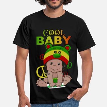 Peace-and-love-rasta Cool baby - T-shirt Homme