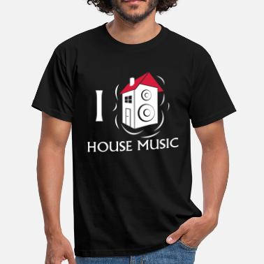 I Love House I love House Music - Mannen T-shirt
