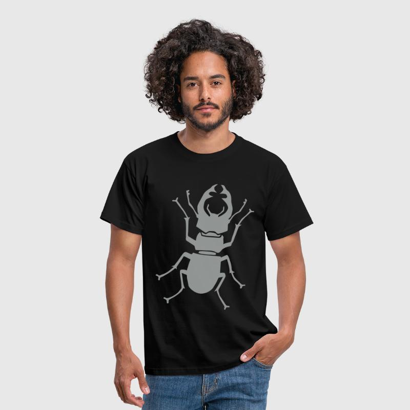 stag beetle antler antlers horn horns insect - T-shirt Homme