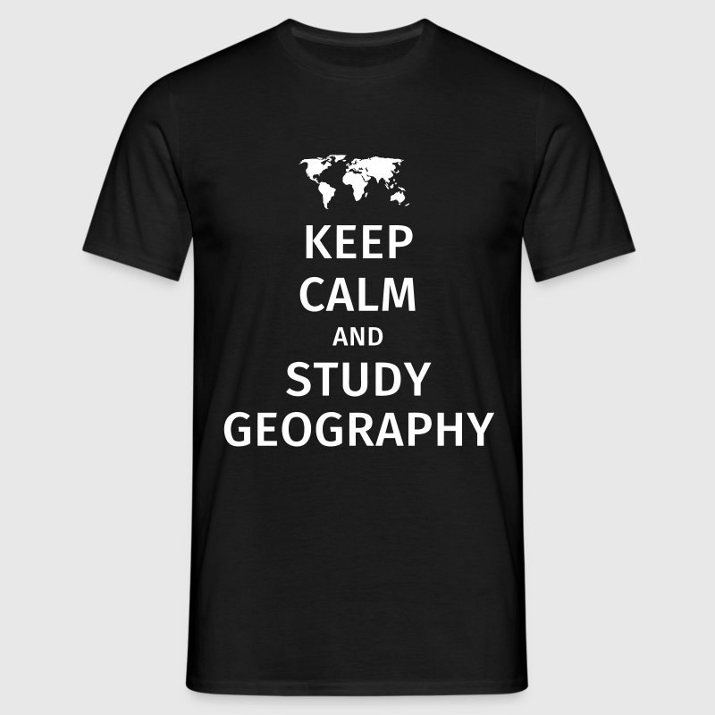 keep calm and study geography - Mannen T-shirt