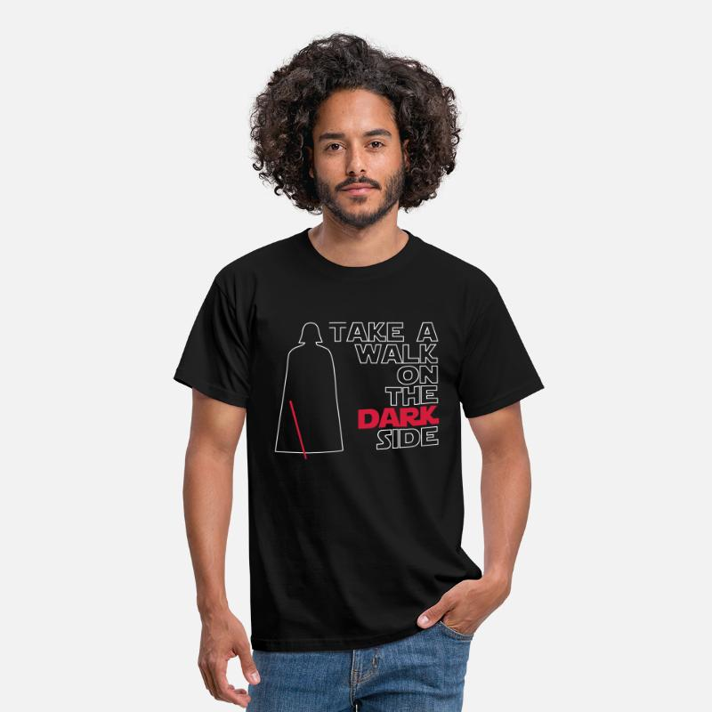 Jedi T-shirts - Take a walk on the dark side (outline) - T-shirt Homme noir
