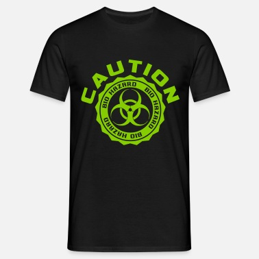 Caution - Bio Hazard - Männer T-Shirt