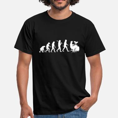 Roller Evolution Evolution of Rock Drums - Männer T-Shirt