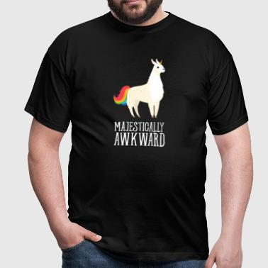 Majestically Awkward - Llamacorn - Männer T-Shirt