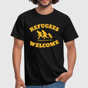 Pegida Refugees Welcome - Men's T-Shirt
