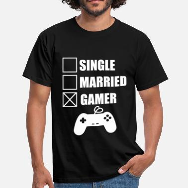 married gamer geek gamer nerd gaming - Mannen T-shirt