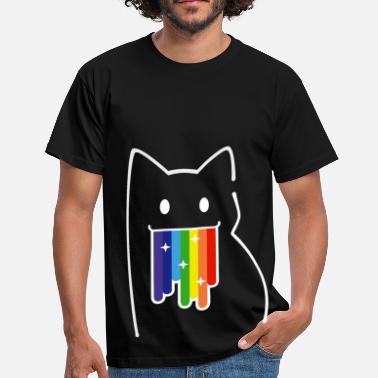 Nyan Cat For Geeks: Nyan Cat, Pop-Tart Cat, Rainbow Colors - Männer T-Shirt