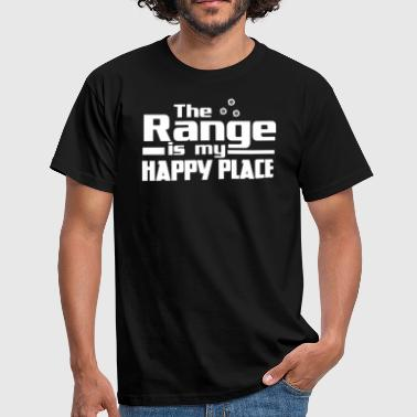Shooting Range The Range Is My Happy Place - Men's T-Shirt