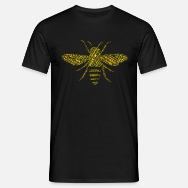Madchester Manchester Bee shirt made from towns and villages - Men's T-Shirt