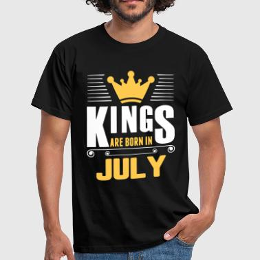 Kings Are Born In July - Men's T-Shirt