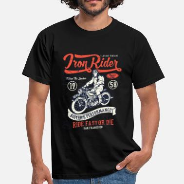 Motocycliste Iron Rider - T-shirt Homme