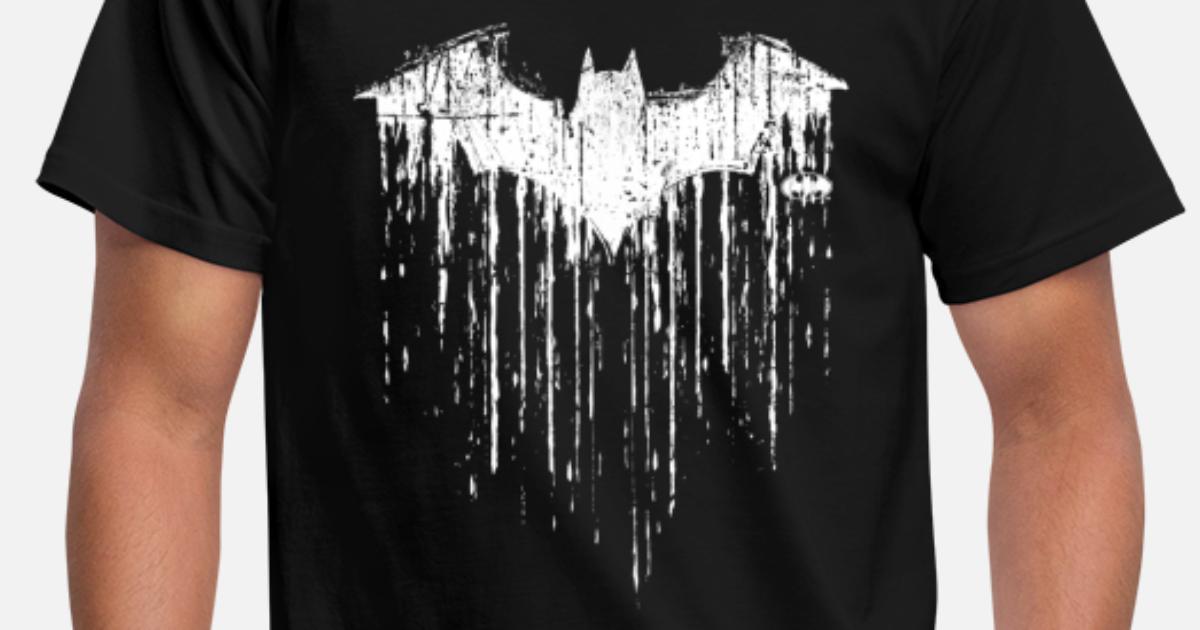 batman fledermaus wei t shirt f r m nner m nner t shirt spreadshirt. Black Bedroom Furniture Sets. Home Design Ideas