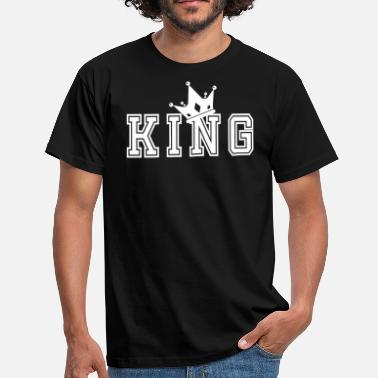 Matching Couples Valentine's Matching Couples King Crown Jersey - Men's T-Shirt