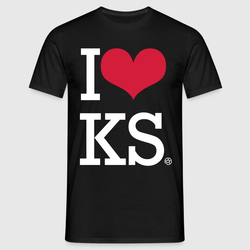 I LOVE KS - Men's T-Shirt