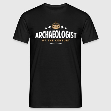 archaeologist of the century funny crown - Men's T-Shirt