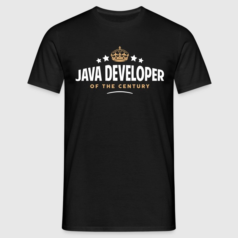 java developer of the century funny crow - Men's T-Shirt
