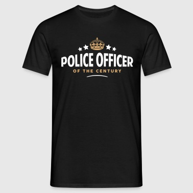 police officer of the century funny crow - Men's T-Shirt