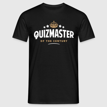quizmaster of the century funny crown st - Men's T-Shirt
