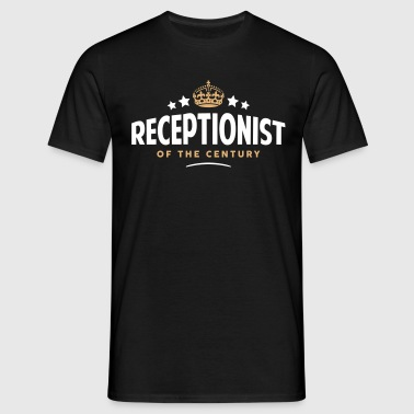 receptionist of the century funny crown  - Men's T-Shirt