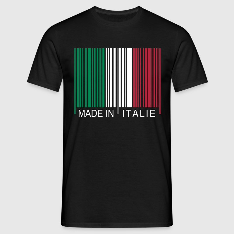 Code barre Made in Italie - T-shirt Homme