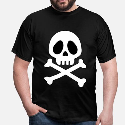 Tête de mort Pirate - ani - T-shirt Homme. Devant. Devant 247c58058001