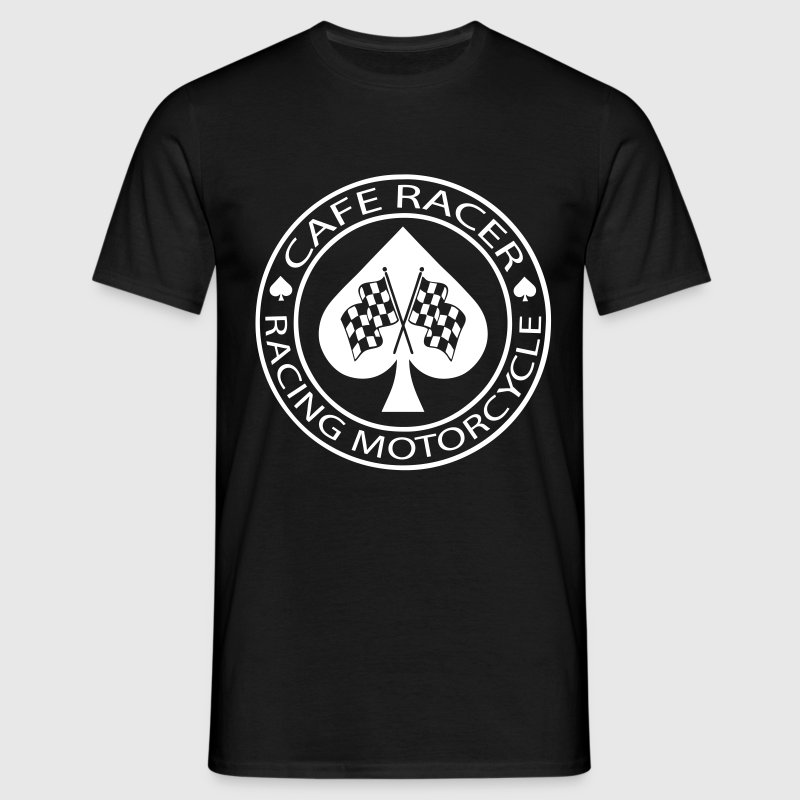 Cafe racer motorcycle racing ace of spades - Men's T-Shirt